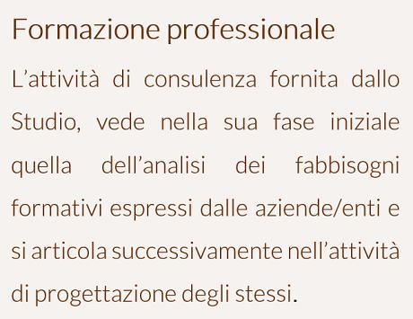Formazione professionale - ITA