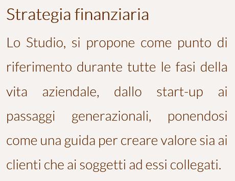Strategia finanziaria - ITA