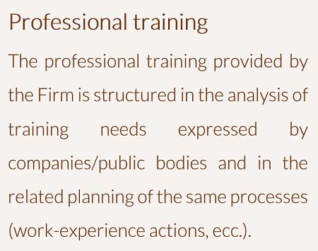 Formazione professionale - ENG
