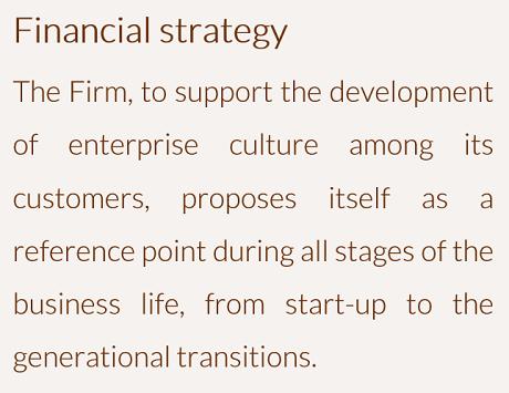 Strategia finanziaria - ENG